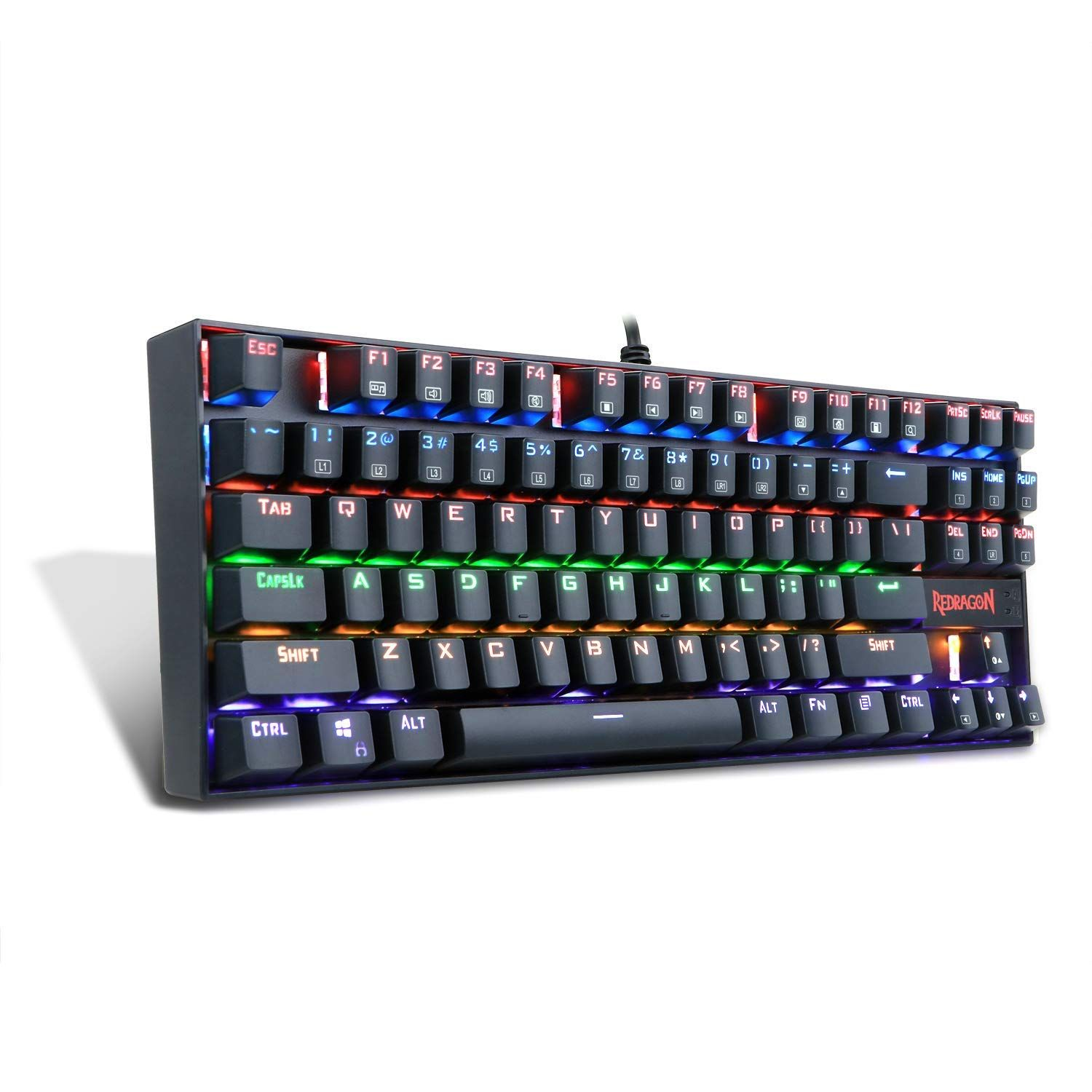 Gaming Keyboard Mechanical K552-R By 87 RGB LED Rainbow Backlit Computer For PC
