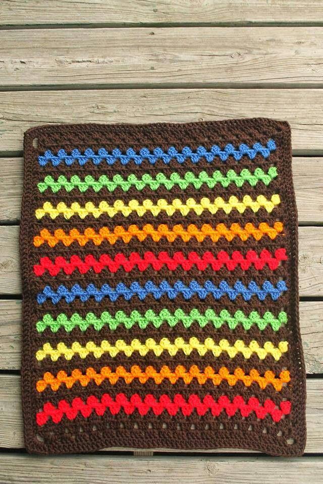 Granny Stripe Blanket   Grace\'s Crochet and Knit ect   Pinterest