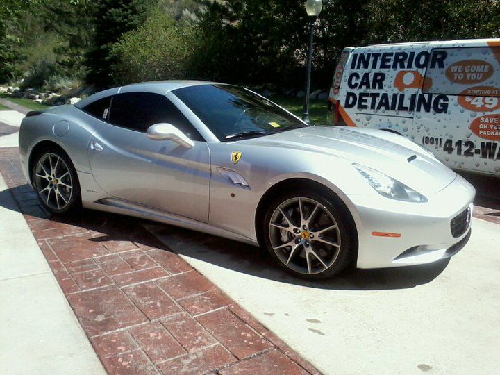 Ferrari after our wash and wax. Mobile car wash, Car