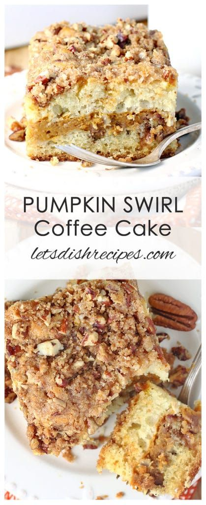 Pumpkin Swirl Sour Cream Coffee Cake Recipe Sour Cream Coffee Cake Coffee Cake Recipes Pumpkin Coffee Cakes