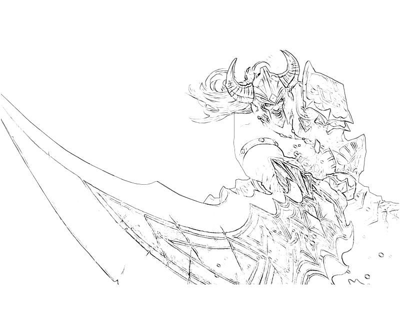 Sorceress Coloring Pages Printable League of Legends Tryndamere - fresh coloring pages of league of legends