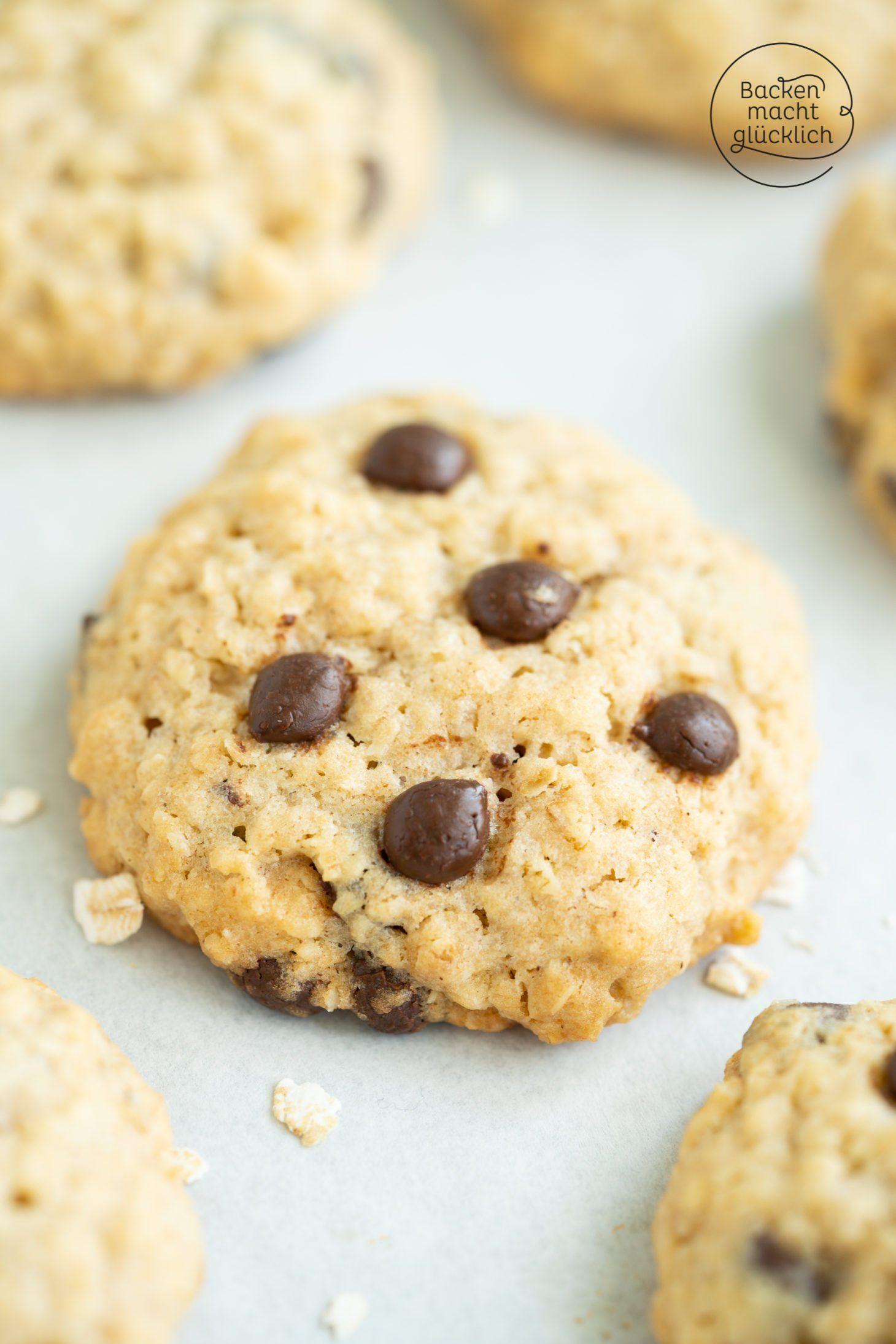 Haferflocken schoko kekse