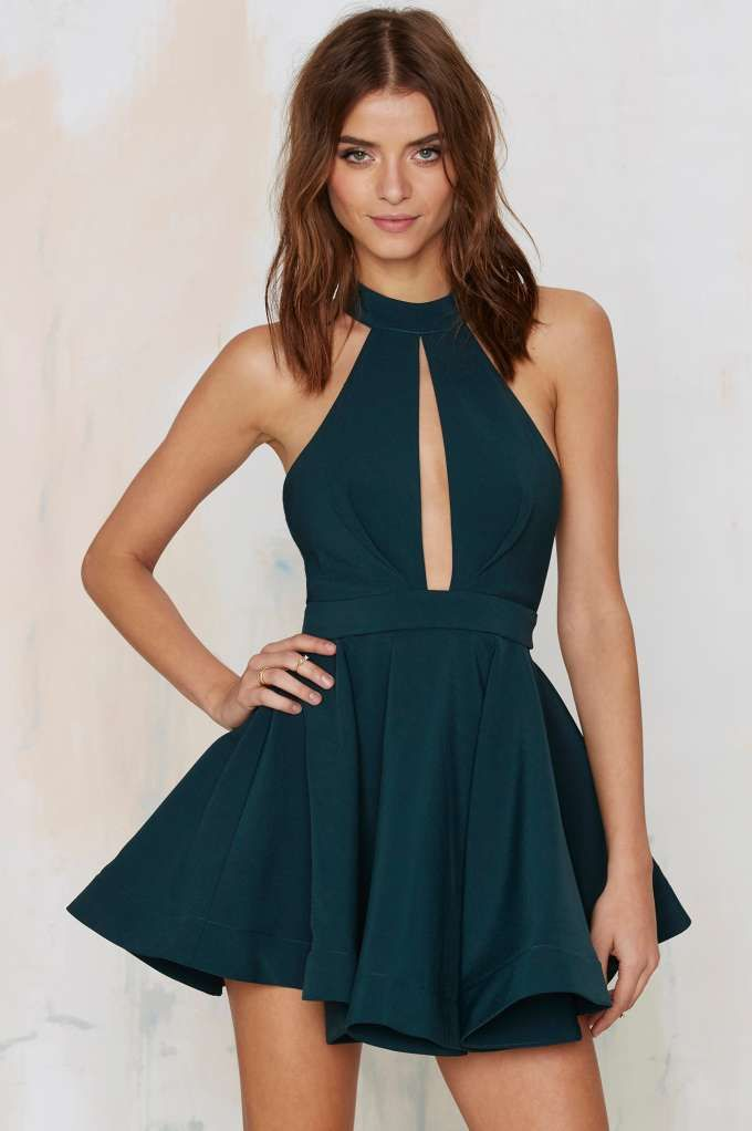 Shanghai Surprise Cut-Out Dress - Green | Shop Clothes at Nasty Gal!