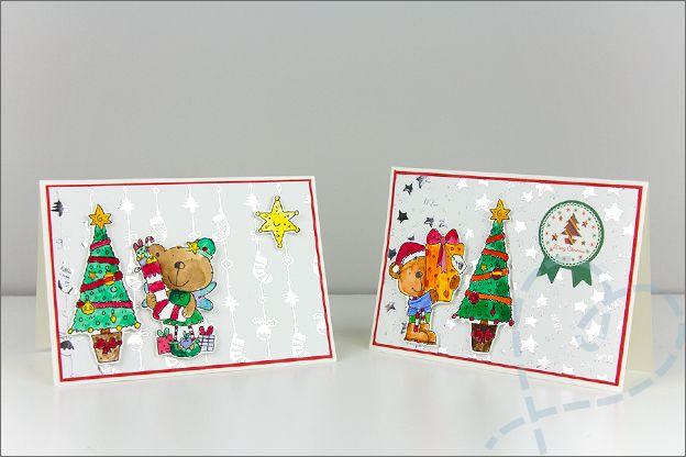 Kerstkaarten maken spullen action