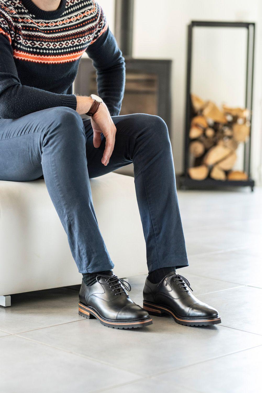 09562c22ab92 hardrige chaussures femme homme mode cuir leather shoes tendance automne  hiver semelle 2018 2019 tenue porter boots derby richelieu ...