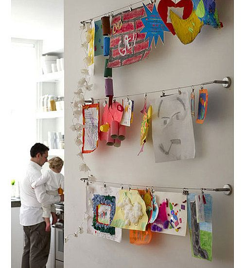 Curtain Display Use A Hanging Kit Like This Ikea Cable One To Make Modern And Streamlined Gallery That Can Be Updated As New Artwork