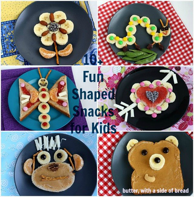 fun kid snacks with bananas butter with a side of bread