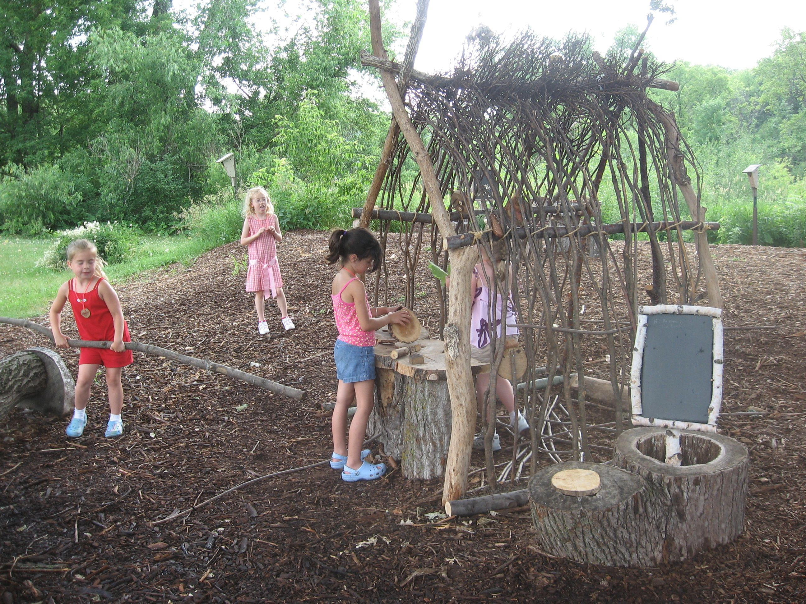 build a natural playhouse using sticks and zip ties via natural