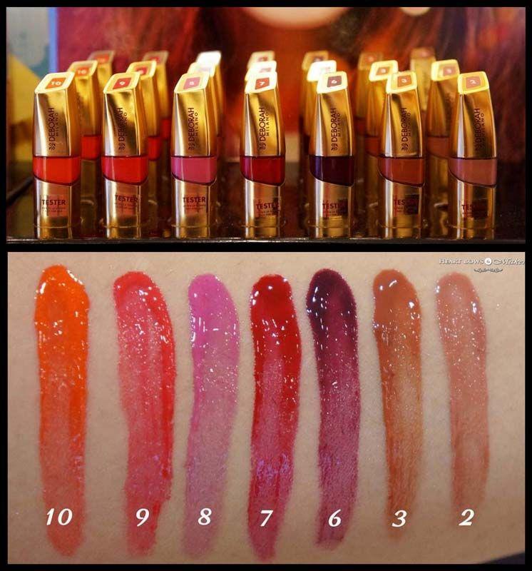 Deborah Milano Red Laque Lipstick Gloss Swatches Http Www
