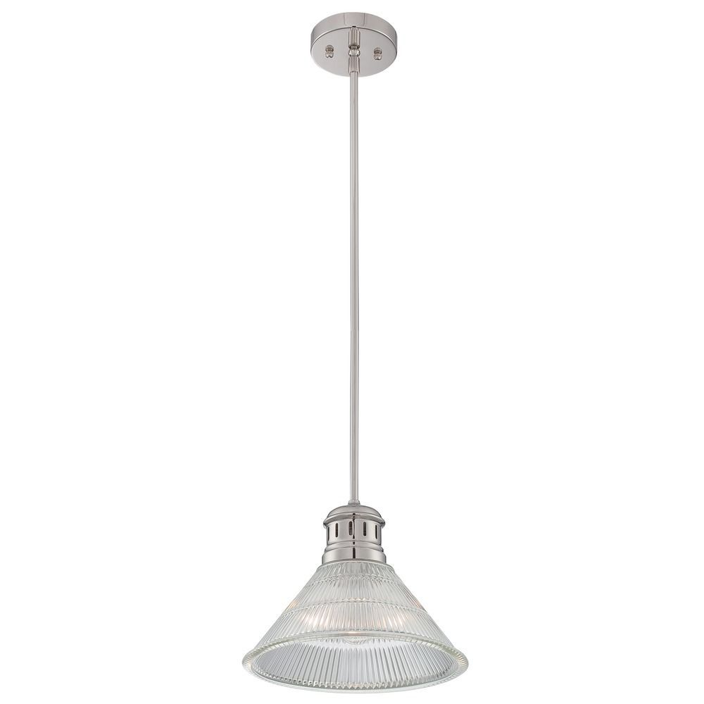 Lite Source Lighting Gale Polished Steel Pendant Light With Coolie Shade Ls