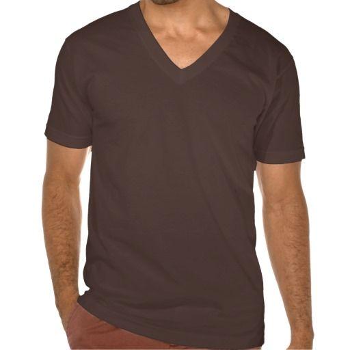 7d9dc526bc17 Plain chocolate brown jersey v-neck t-shirt men | Zazzle.com | Deep ...