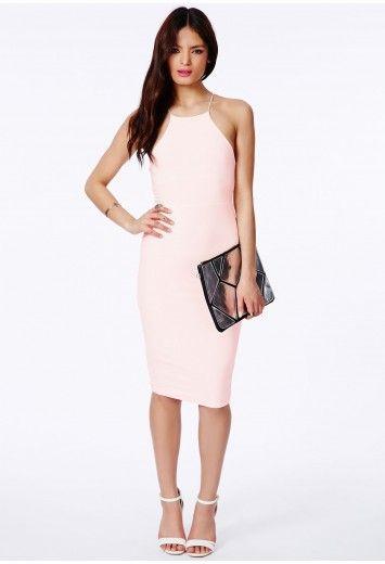 Sienna Slinky Crossover Back Midi Dress - Dresses - Midi Dresses - Missguided