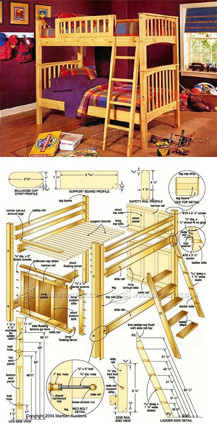 Bunk Bed Plans Children S Furniture Plans And Projects