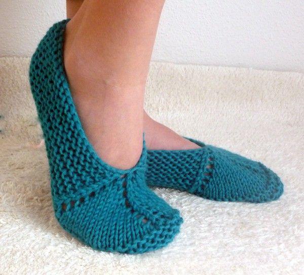 Hausschuhe Stricken Anleitung Für Anfänger Pantoffeln Sneakers
