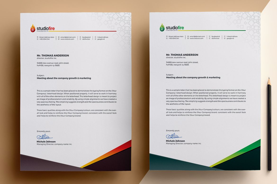 Creative Letterhead Templates For You Yourself To Modify