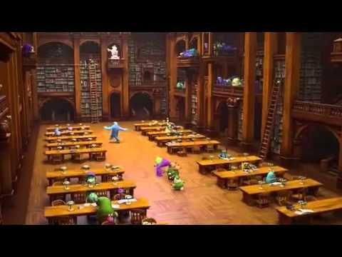Monsters University Librarian Scene Monster University Movie Scenes University