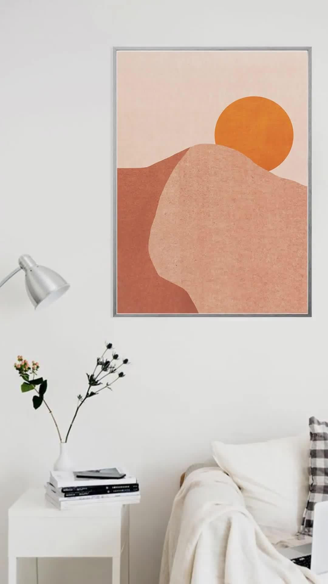 Photo of Modern art print Boho decor Minimalist print Geometric mid Century art Abstract art print Neutral wa