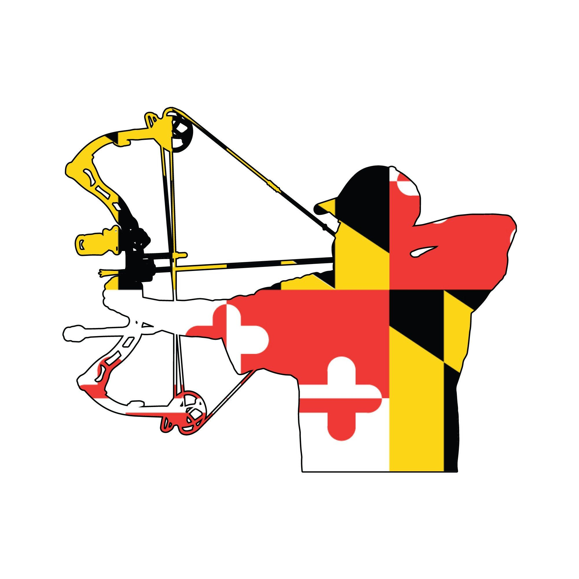 Maryland Flag Bowhunter Decal Window Sticker Bowhunter Vehicle Decal Hunting Sticker By Huntlocal On Etsy In 2020 Bow Hunting Maryland Flag Window Stickers