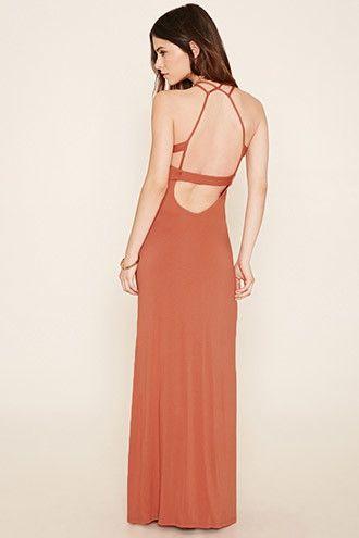 Strappy-Back M-Slit Maxi Dress