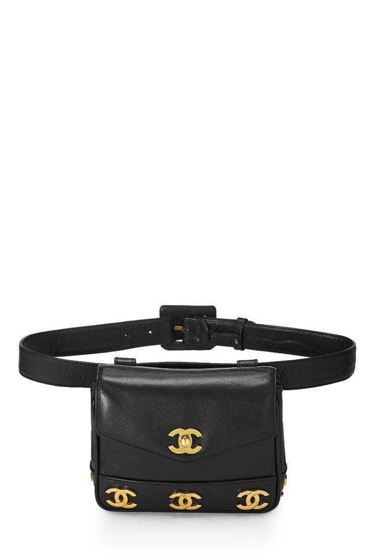 fc7c4d519f27c1 Chanel Black Lambskin Triple 'CC' Belt Bag 34 - What Goes Around Comes  Around