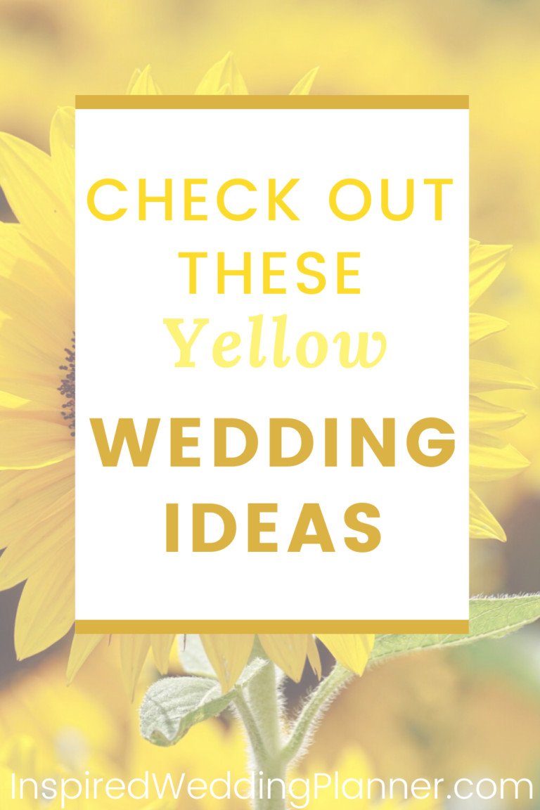 Yellow Wedding Theme Ideas #planningyourday