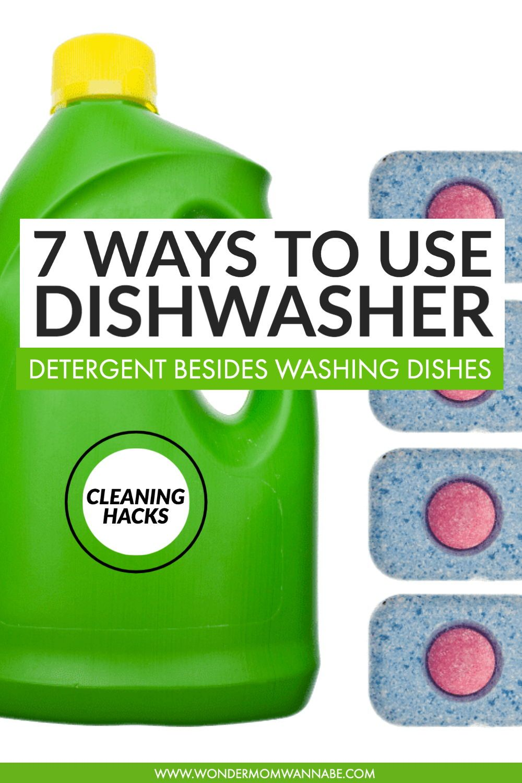 Other Uses for Dishwasher Pods Dishwasher pods
