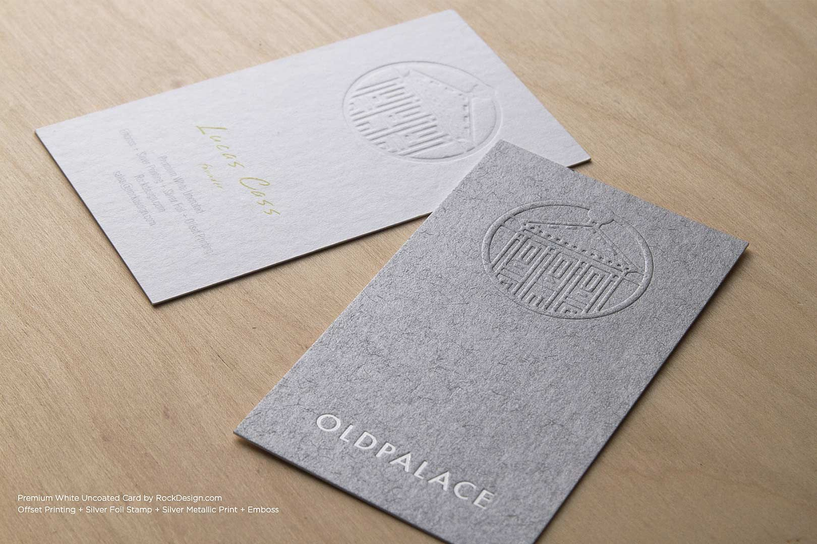Premium uncoated business cards rockdesign luxury business card premium uncoated business cards rockdesign luxury business card printing reheart Image collections