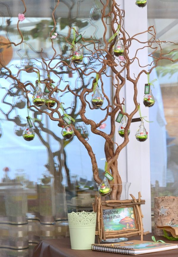 Idee Decoration Foret Support Dragees Mariage