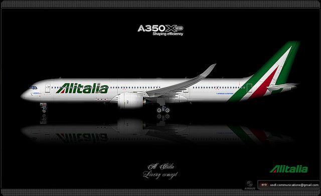 Alitalia / Airbus A350 XWB / Livery concept