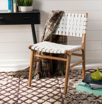 Fabulous Taika Woven Leather Dining Chair Products In 2019 Beatyapartments Chair Design Images Beatyapartmentscom
