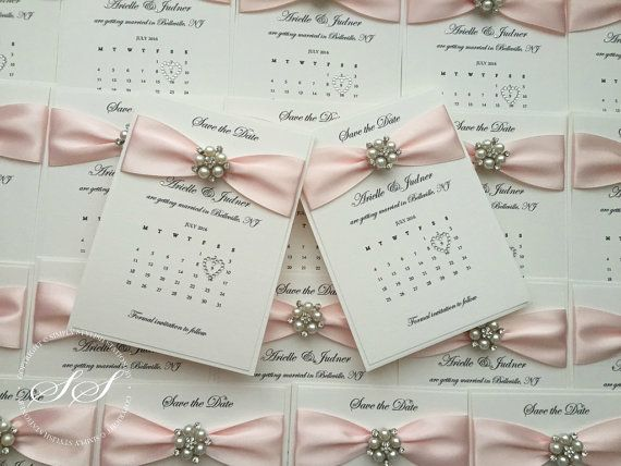 SAMPLE Pearl Wedding Calendar Save the Dates Handmade Luxury