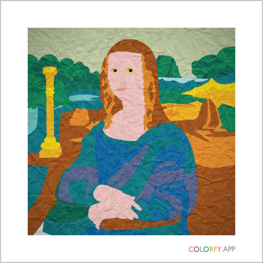 Colorfy coloring book for adults free online - Colorfy Mona Lisa Famous Paintings On Colorfy Get Inspired Color A Beautiful Artwork