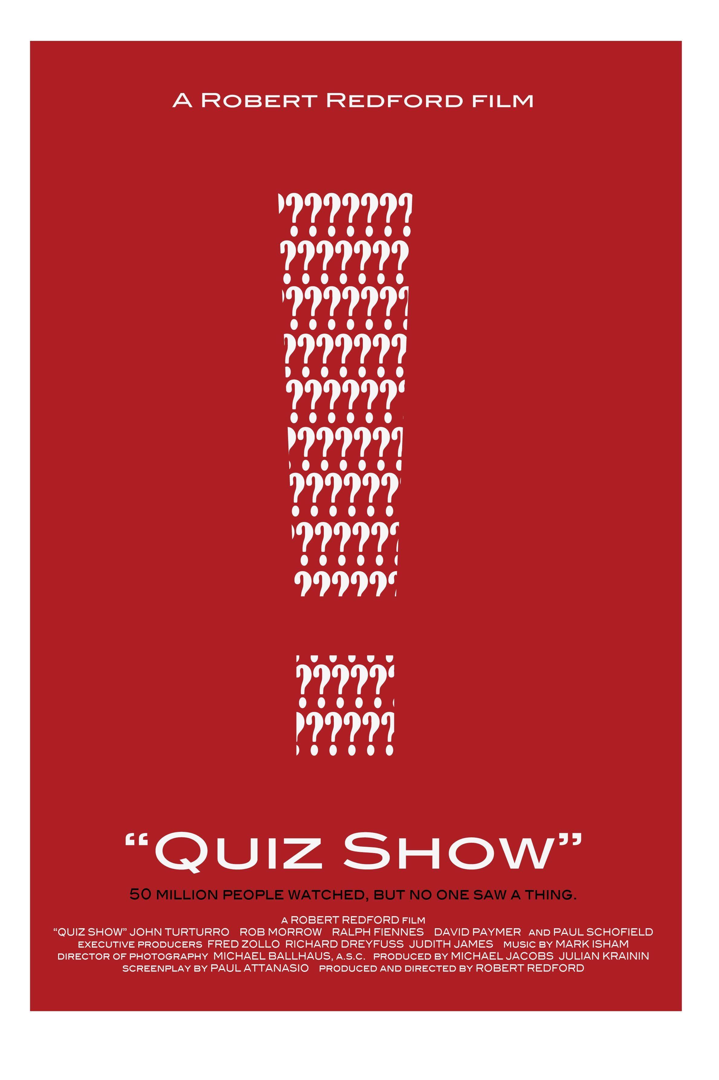 Robert Redfort Quiz Show Movie Posters Minimalist Alternative