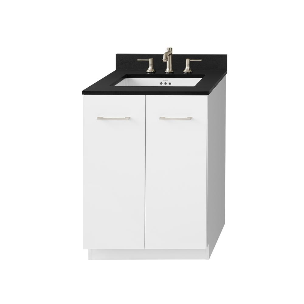 Ronbow Essentials Arden 24 in. W x 34 in. H Vanity Cabinet Only in ...