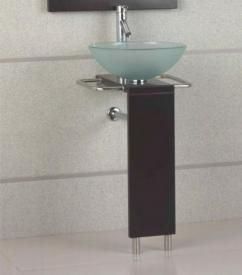 19 Inch Modern Bathroom Vanity With Glass Vessel Sink Sink Modern Bathroom Sink Glass Vessel Sinks