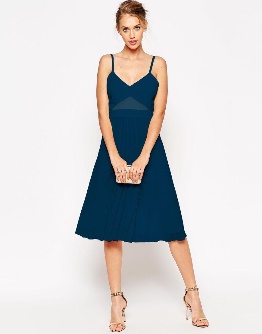 ASOS+Sheer+and+Solid+Pleated+Midi+Cami+Dress | Bridesmaids ...