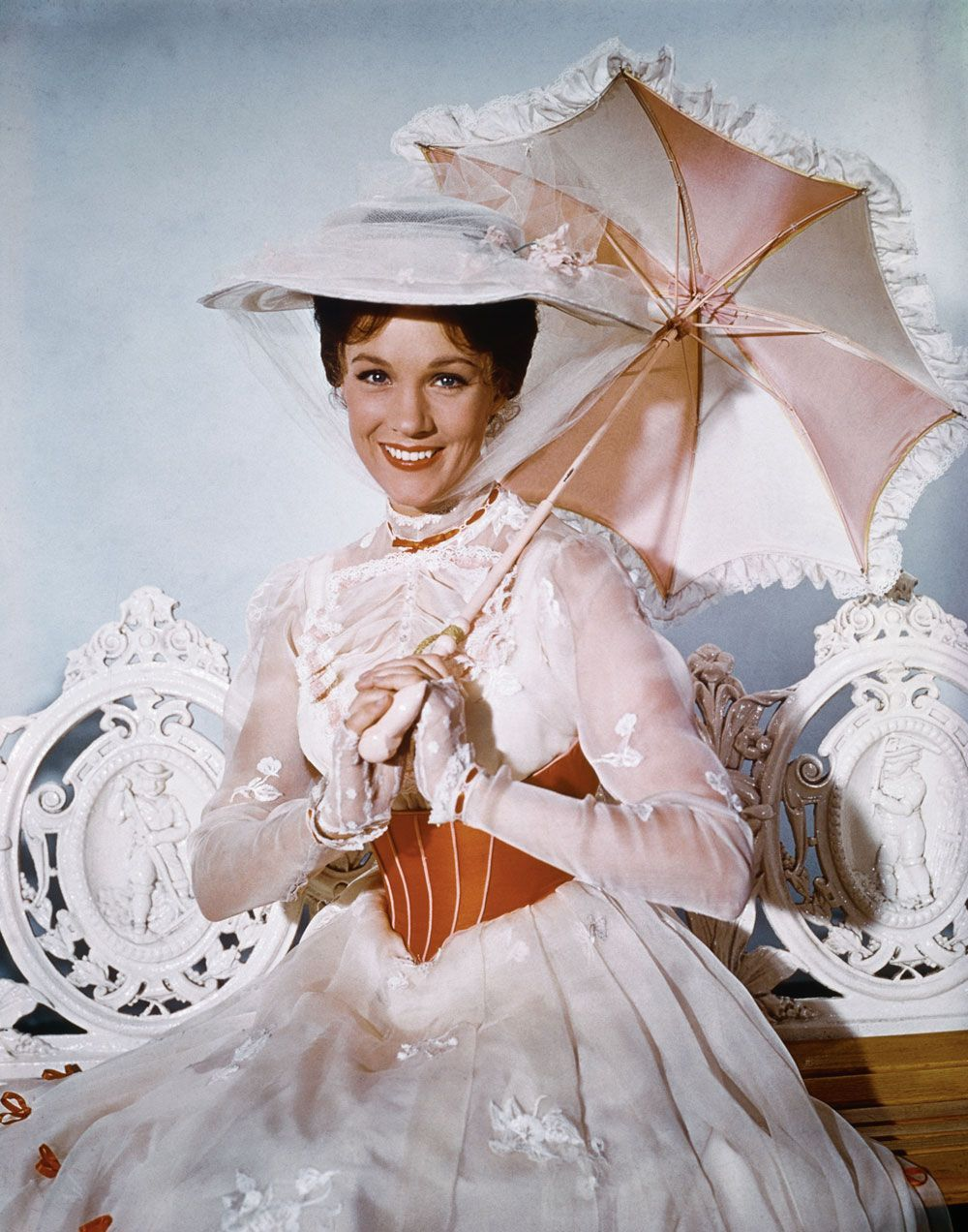 101 most iconic movie dresses that defined Hollywood is part of Mary poppins dress, Iconic movies, Mary poppins 1964, Mary poppins jolly holiday, Mary poppins, Julie andrews - From Marilyn's red sequins, to JLo's Maid in Manhattan moment