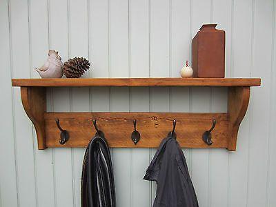 rustic pine hat coat rack shelf 2 3 4 5 6 7 hooks also in shabby rh pinterest ch