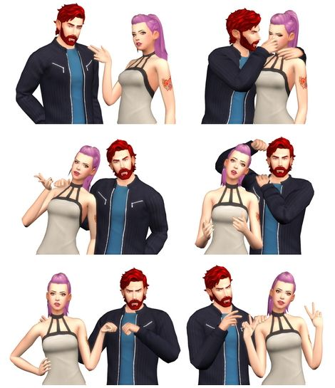 Rinvalee: Couple Poses 05 • Sims 4 Downloads