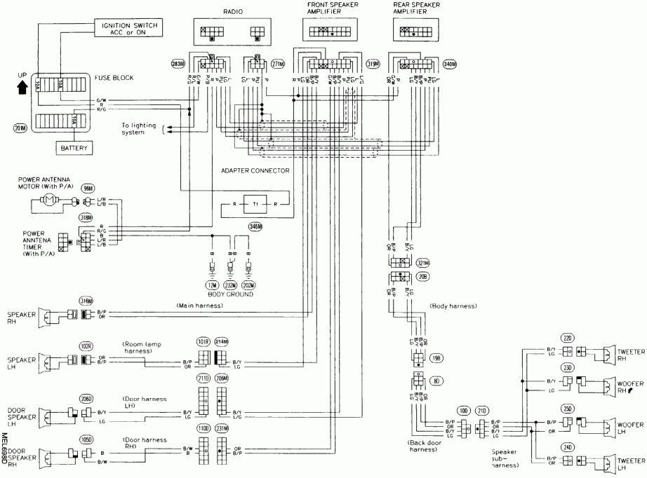 1997 Nissan Pickup Stereo Wiring Diagram