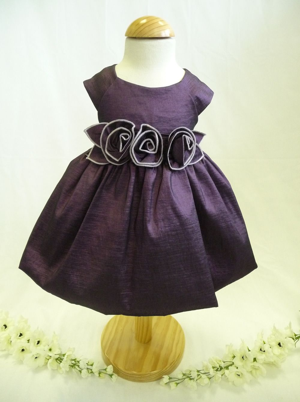 special occasion infant dresses | Sevva Purple Rosebud Special ...