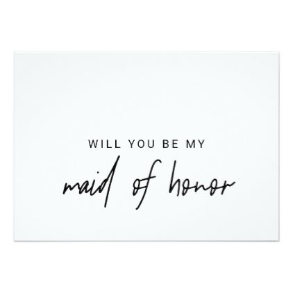 Whimsical Calligraphy Will You Be My Maid Of Honor Invitation ...