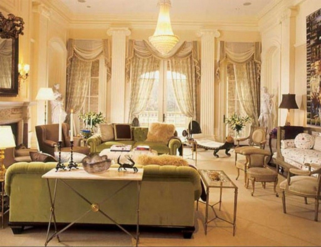 Living Room and Lounge White Cream Wall And Ceiling Color Victorian Home Decor With Green & Living Room and Lounge White Cream Wall And Ceiling Color Victorian ...
