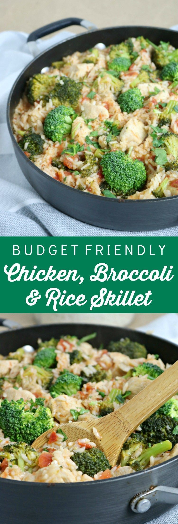 Chicken And Rice Skillet With Broccoli Blue Cheese Bungalow Recipe One Pot Meals Cheap Healthy Meals Cheap Dinner Recipes
