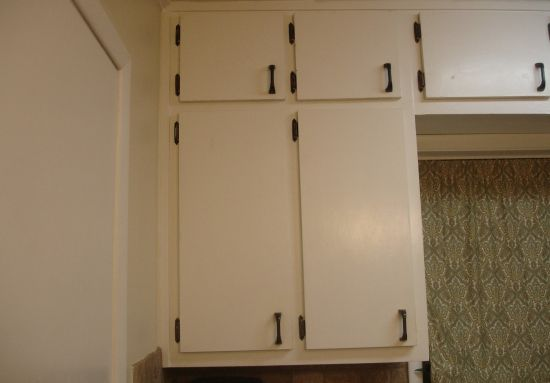 Cabinet Doors Updated With Molding Addicted 2 Decorating Cabinet Door Makeover Update Cabinets Framed Kitchen Cabinets