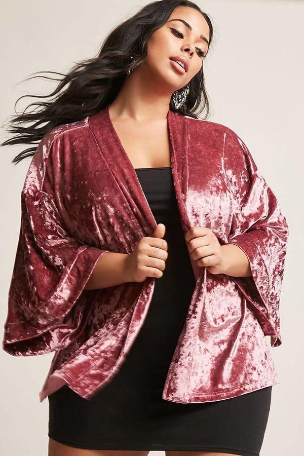 5a97c406d13 Forever 21 FOREVER 21+ Plus Size Crushed Velvet Kimono