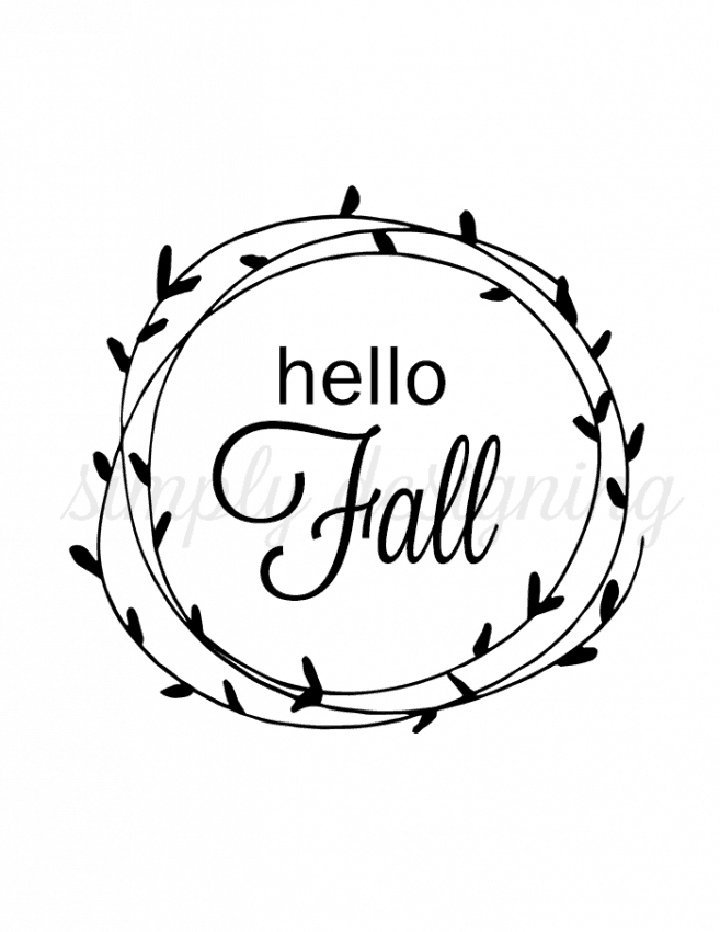 Fall printables -  Hello autumn -  Fall -  Fall decor -  Fall thanksgiving -  Farmhouse fall - This #helloautumn