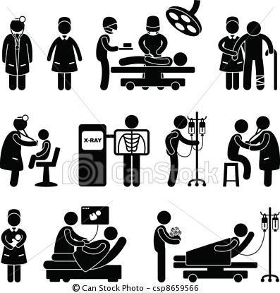 Vector Doctor Nurse Surgery Hospital Stock Illustration Royalty Free Illustrations Stock Clip Art Icon Stock Clipart Icons Pictogram Nurse Medical Logo
