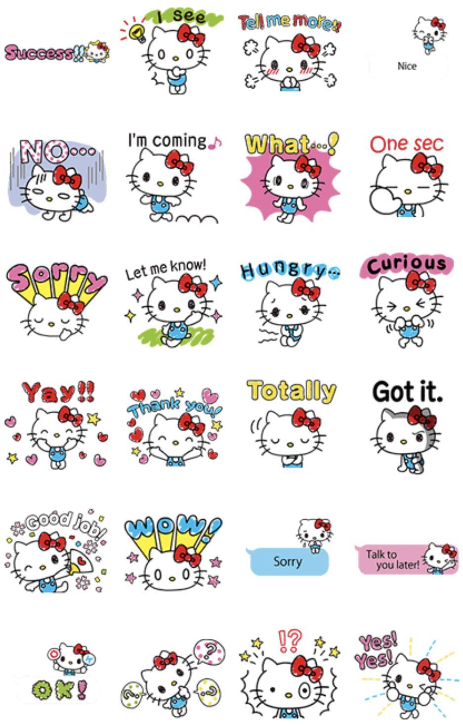 Hello Kitty's Quick Replies Stickers   Hello kitty ...