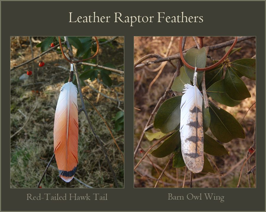 Leather Feathers - Red-tail and Barn Owl by *windfalcon at ...